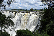 Zambia Waterfall Metal Prints - Victoria Falls View  Metal Print by Aidan Moran