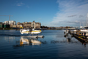 Floatplane Prints - Victoria Floatplane Docking Print by John Daly