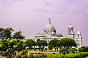 Travel Photography Pyrography Prints - Victoria Memorial Hall Print by Debrup Chatterjee