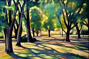 Victoria Paintings - Victoria Park Shadows by Sheila Diemert