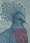 Victoria Paintings - Victoria Pidgeon -- Queen of the Ball by Sherry Goeben