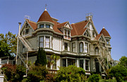 Red Roof Photo Originals - Victorian at Fell and Steiner  San Francisco by Ron Javorsky