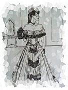 Ballgown Prints - Victorian Ballgown Effects Print by Teresa  Peterson