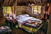 Victorian Bedroom Print by Adrian Evans