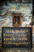 Victorian Bell Sign Print by Adrian Evans