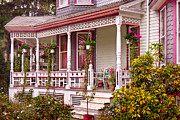Porches Prints - Victorian - Belvidere NJ - The beauty of Spring  Print by Mike Savad