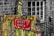 Brickwork Prints - Victorian Boat Dock Sign Print by Adrian Evans