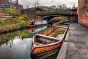 Narrow Boats Framed Prints - Victorian Canal Framed Print by Adrian Evans