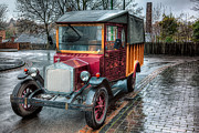 Tyre Metal Prints - Victorian Car Replica  Metal Print by Adrian Evans