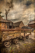 Victorian Colliery Print by Adrian Evans
