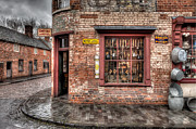 Times Past Prints - Victorian Corner Shop Print by Adrian Evans