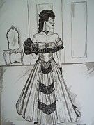 Ballgown Prints - Victorian Era Print by Teresa  Peterson