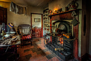 Dry Wood Prints - Victorian Fire Place Print by Adrian Evans