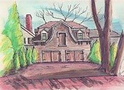 Paul Drawings - Victorian Garage in Salem by Paul Meinerth