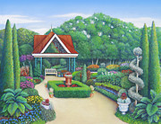 Denver Pastels Prints - Victorian Garden Print by Bruce MacBride