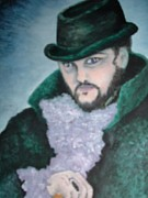 Steam Punk Painting Posters - Victorian Gentleman Poster by Ronda Douglas
