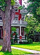 Victorian Town Digital Art - Victorian Home by Steve Harrington