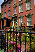 Victorian Metal Prints - Victorian Homes in Pittsburghs Mexican War Streets Metal Print by Amy Cicconi