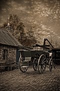 Cobbled Framed Prints - Victorian Horse Cart Framed Print by Christopher and Amanda Elwell