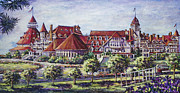 Famous Hotel Paintings - Victorian Hotel Del by Sue Tushingham McNary