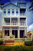 Texas Revolution Prints - Victorian House Island of Galveston Texas Print by Arco Montufar