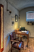 Centre Digital Art Prints - Victorian Jail Office Print by Adrian Evans
