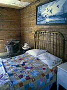 Log Cabins Prints - Victorian Pioneer Master Bedroom Print by Daniel Hagerman