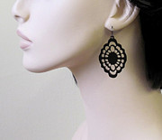Perspex Jewelry Jewelry - Victorian romantic lace earrings by Rony Bank
