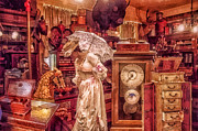 Umbrella Mixed Media - Victorian Shop by Mo T