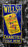 Cigarettes Prints - Victorian Sign Print by Adrian Evans