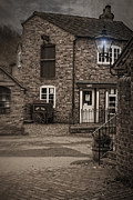 Gas Lamp Prints - Victorian Stone House Print by Christopher and Amanda Elwell
