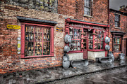 Black  Digital Art Prints - Victorian Stores England Print by Adrian Evans