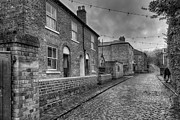 Old Town Acrylic Prints - Victorian Street Acrylic Print by Adrian Evans