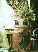 White House Mixed Media - victorian Study by Florene Welebny
