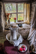 Curtain Digital Art Prints - Victorian Wash Area Print by Adrian Evans