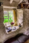 Stone Digital Art Prints - Victorian Window Print by Adrian Evans