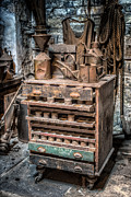 Wooden Digital Art Metal Prints - Victorian Workshop Metal Print by Adrian Evans