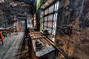 Machinery Digital Art Prints - Victorian Workshops Print by Adrian Evans