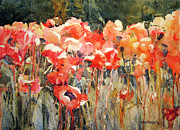 Florida Flowers Painting Prints - Victors Longest Day Print by Kris Parins