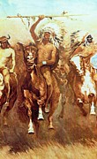 Victory Digital Art Posters - Victory Dance Detail Poster by Frederic Remington