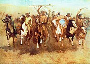 American Indian Digital Art Framed Prints - Victory Dance Framed Print by Frederic Remington