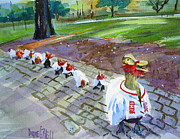 Red Sox Paintings - Victory Ducks by Diane Bell