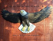 Eagle Sculpture Posters - Victory - Soaring Eagle Statue Poster by Chris Dixon