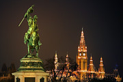 Marc Huebner Art - Vienna - Heldenplatz - Square Of Heroes by Marc Huebner