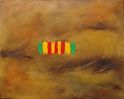 Marines Painting Originals - Vietnam Service Ribbon by Judith Rhue