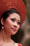 Elegant Bride Framed Prints - Vietnamese Bride 11 Framed Print by Rick Piper Photography