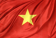 Vietnamese Flag Print by Les Cunliffe