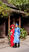 Southeast Asia Framed Prints - Vietnamese Wedding Couple 01 Framed Print by Rick Piper Photography