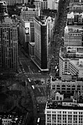 Manhaten Prints - View Down Towards Flatiron Building 5th Ave And Broadway New York City Usa Print by Joe Fox
