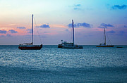 Carolyn Stagger Cokley Metal Prints - View From A Catamaran3 - Aruba Metal Print by Carolyn Stagger Cokley